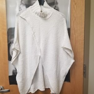 Poncho with mock neck